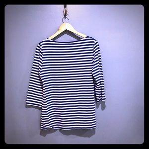 Merona royal blue & white striped boatneck Shirt